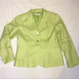 Coldwater Creek spring blazer - lime green